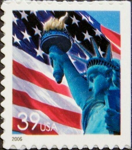 2006 39c Statue of Liberty & Flag, Denominated Scott 39