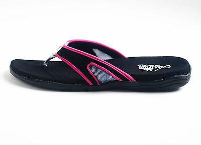 ISOTONER Women/'s Stretch Fabric Upper Sandal Flip Flops Pink Green Size 7 8 9