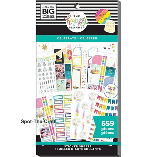"""me /& my BIG Ideas Happy Planner """"BOOKISH"""" CLASSIC Planner /& Happy Notes SET NEW"""