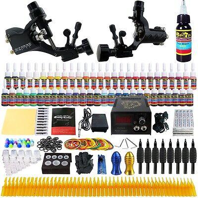 Solong Tattoo Kit 2 Pro Machine Guns 54 Inks Power Supply Needle Grips TK255
