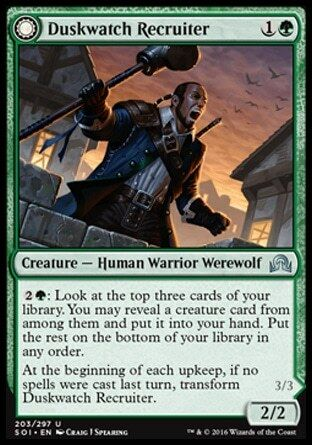 DUSKWATCH RECRUITER //// KRALLENHORDE HOWLER Magic SOI Mint 2x RECLUTATORE