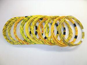 11 STRIPED color wiring options LT GREEN hi temp automotive 16 gauge GXL wire
