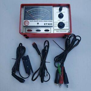 Vintage Mac Tools Tach Dwell Volts Ohms Amps ET920 , g162
