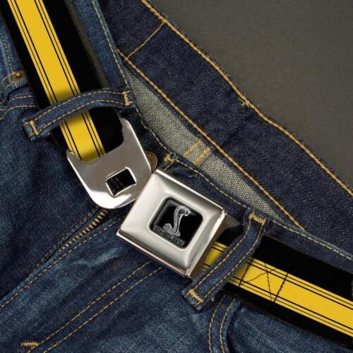 SHELBY Gürtel USA Seatbelt Style Edelstahl Sicherheitsgurt Logo FORD COBRA GT500