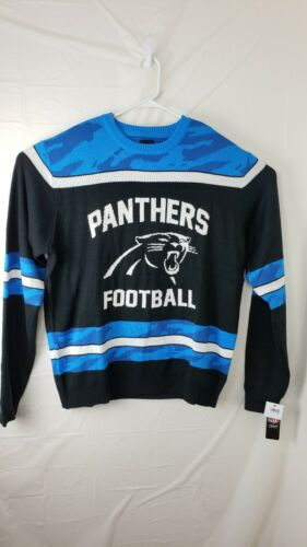 Tamaño Nuevo Xl Color Apparel y Hombres Nfl Azul Football Panthers Negro Suéter Team 6RFpqYww7