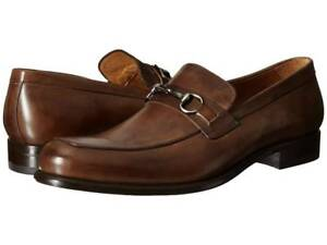 Image is loading Mezlan-Mens-Worcester-Bit-Loafers-Dress-Shoes-Brown-