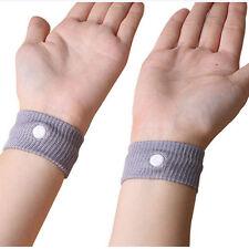 1pc Nausea Anti Morning Sickness Motion Travel Sick Wrist Bands Car Sea  SS