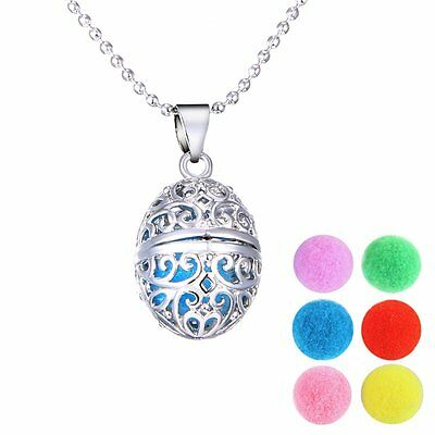 Locket Necklace Perfume Fragrance Essential Oil Aromatherapy Diffuser+Cotton