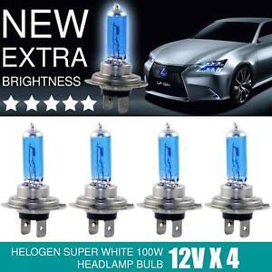 H7 Birnen Xenon Optik Halogenlampen 8500K Super Weiss 12 Volt 100 Watt SuperStar