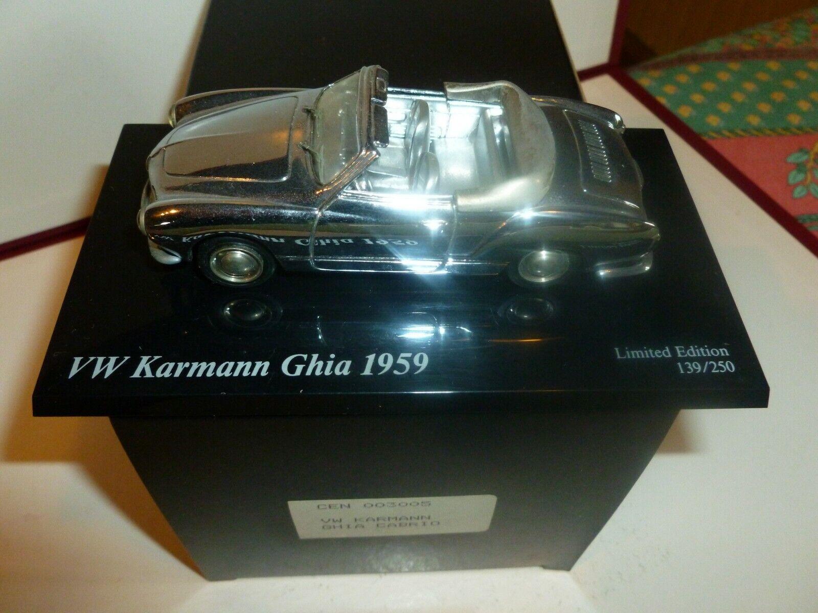 AMR CENTURY VW KARMANN GHIA 1959 DECAPOTE ED LIMITEE 139 250 ETAT NEUF CHROME