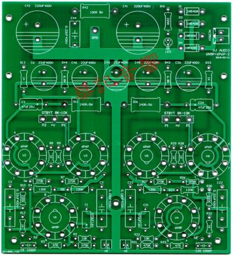 DIY PCB for 6P6P stereo push-pull Tube Power Amplifier Class AB 2x12W HIFI