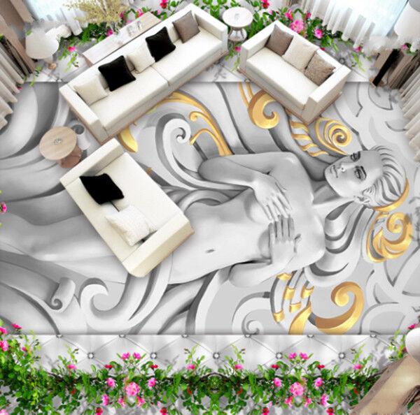 3D Woman Art 83 Floor WallPaper Murals Wall Print Decal AJ WALLPAPER US Carly