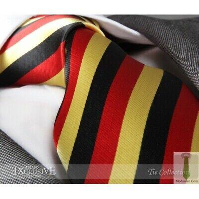 New Men/'s Designer Red /& Yellow Striped Silk Tie
