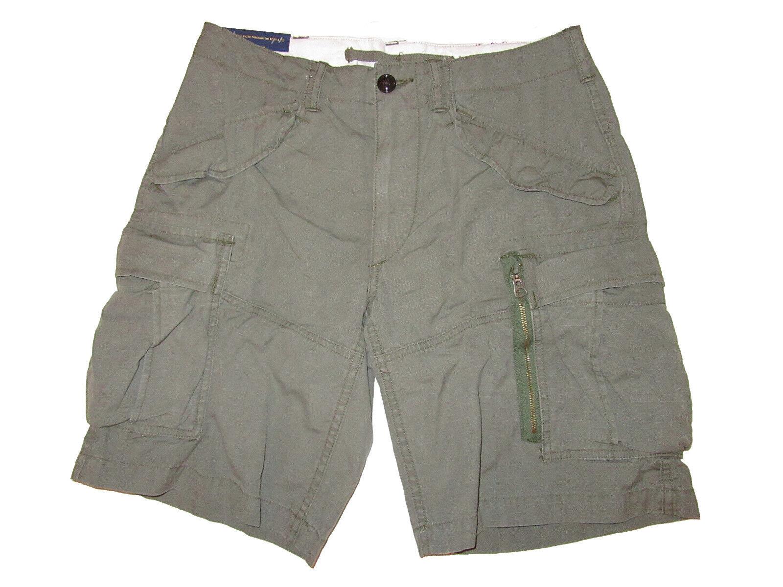 Polo Ralph Lauren Military Green Gunner Cargo Shorts 30