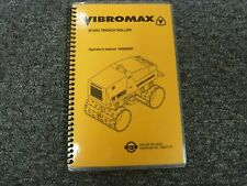 Vibromax W1500 Trench Roller Owner Operator Maintenance Amp Specifications Manual