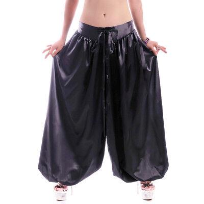 Forte C57 Danza Del Ventre Costume Pantaloni Da Molto Raffinata Satin Larghezza Rock Pantaloni Tribal Fusion-mostra Il Titolo Originale Costo Moderato