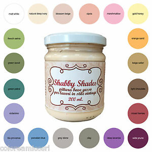 Shabby shades chalk paint vernice pittura base gesso opaca - Pittura per mobili ...