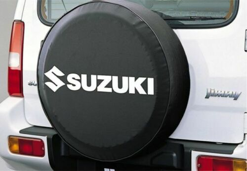 Genuine Suzuki Jimny morbida pelle copertura ruota di scorta Nero Bianco 99000-990YB-699