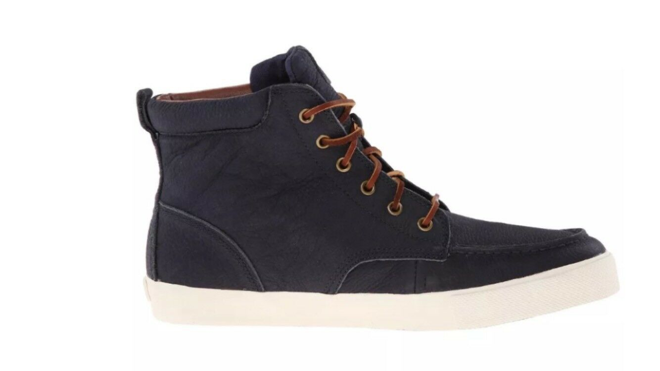 NEW POLO RALPH LAUREN Uomo TEDD NAVY ANKLE BOOTS SIZE 10.5 D