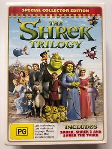 Shrek-Trilogy-Shrek-Shrek-2-Shrek-The-Third-DVD-Region-4-NEW-amp-SEALED