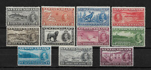 Newfoundland-Scott-233-243-set-2-F-VF-NH-scv-61-nice-colors-see-pic