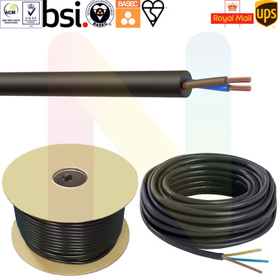 10 Meter Black 0.75mm 3 Core Round Wire Flexible PVC Power Lighting Cable 3183Y