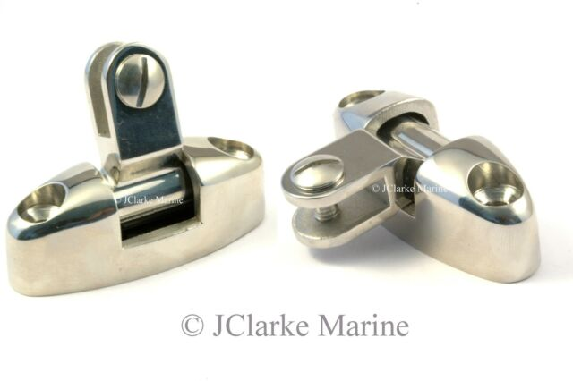 Boat Cover/Canopy Fitting - HD Cast Deck Hinge for bar and frame work