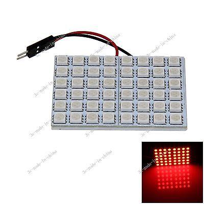 1pcs Red 48 5050 SMD LED Festoon Dome/Door/Box Light Panel Interior Bulb J008