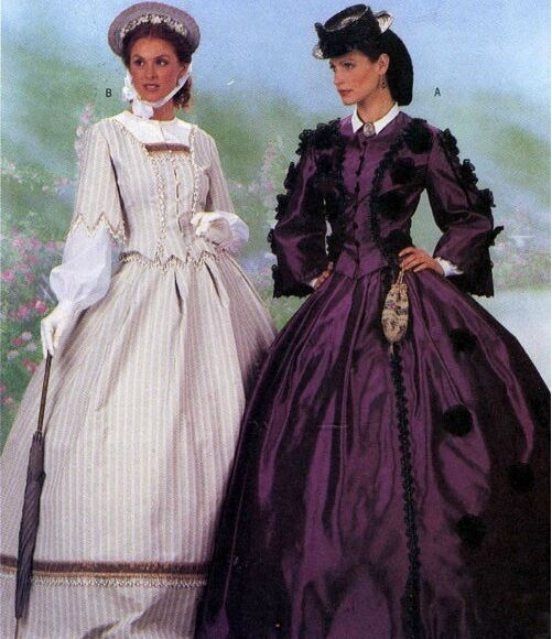 GONE WITH THE WIND CIVIL WAR VICTORIAN COSTUMES SEWING PATTERN OOP 6-8-10