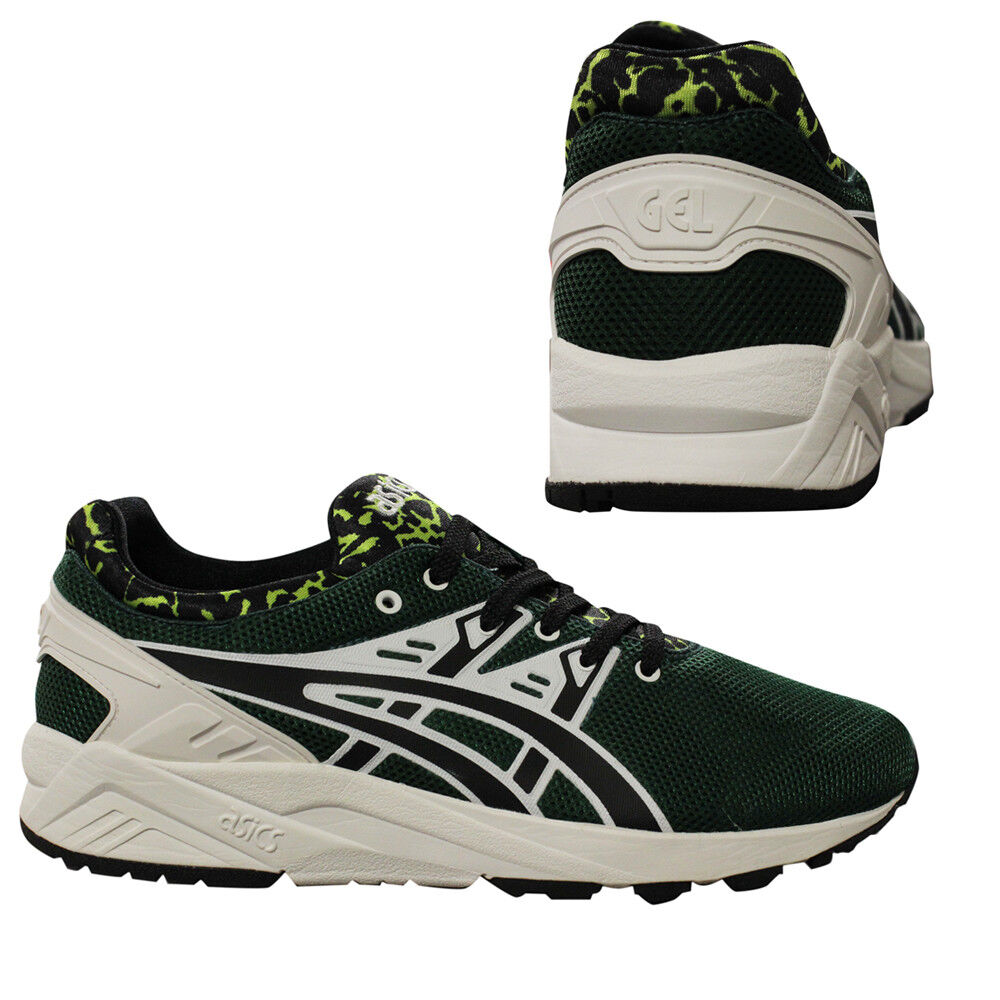 Asics Gel-Kayano Evo Lace Up Mens Trainers Casual Dark Green HN513 8090 Q3