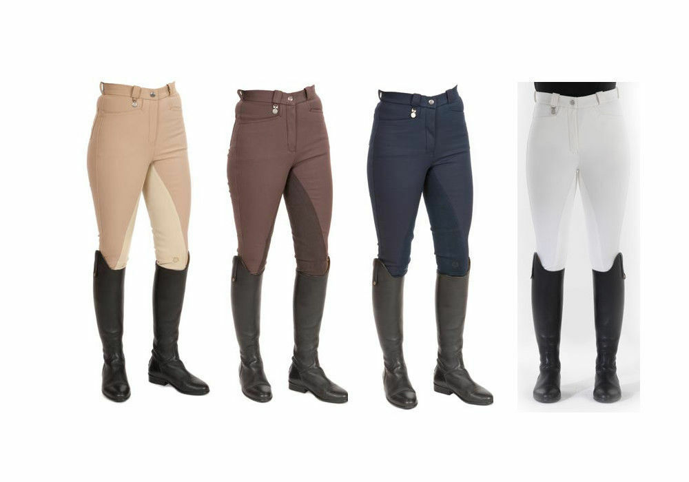 Townend Quizzical broek in chocolate Riding Breeches water afstotend