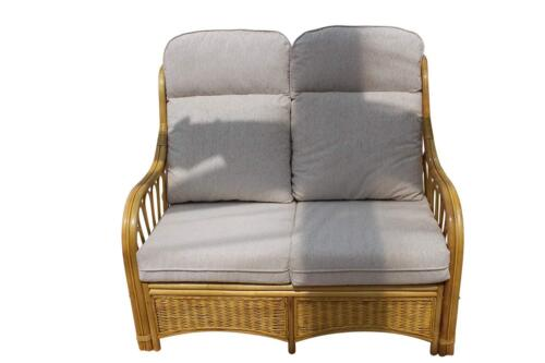 Sorrento Cane Conservatory Furniture -2 Seater Sofa - cream Design Fabric 5055674041533