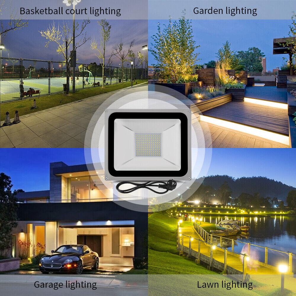 10-1000W LED PIR Bewegungsmelder Flutlicht Outdoor Garten Sicherheit Nachtlicht