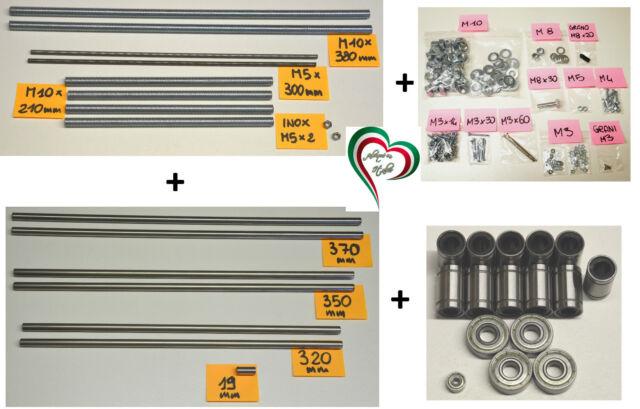 Kit mécanique - Prusa i3 Rework - tiges lisse & filetées/ roulements à billes 3D