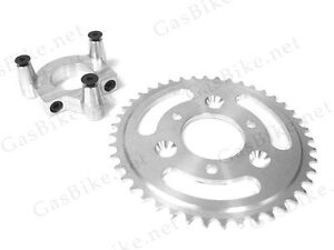 44 Tooth CNC Sprocket & 1.0 Inch Adapter Assembly 80CC Gas Motorized Bicycle