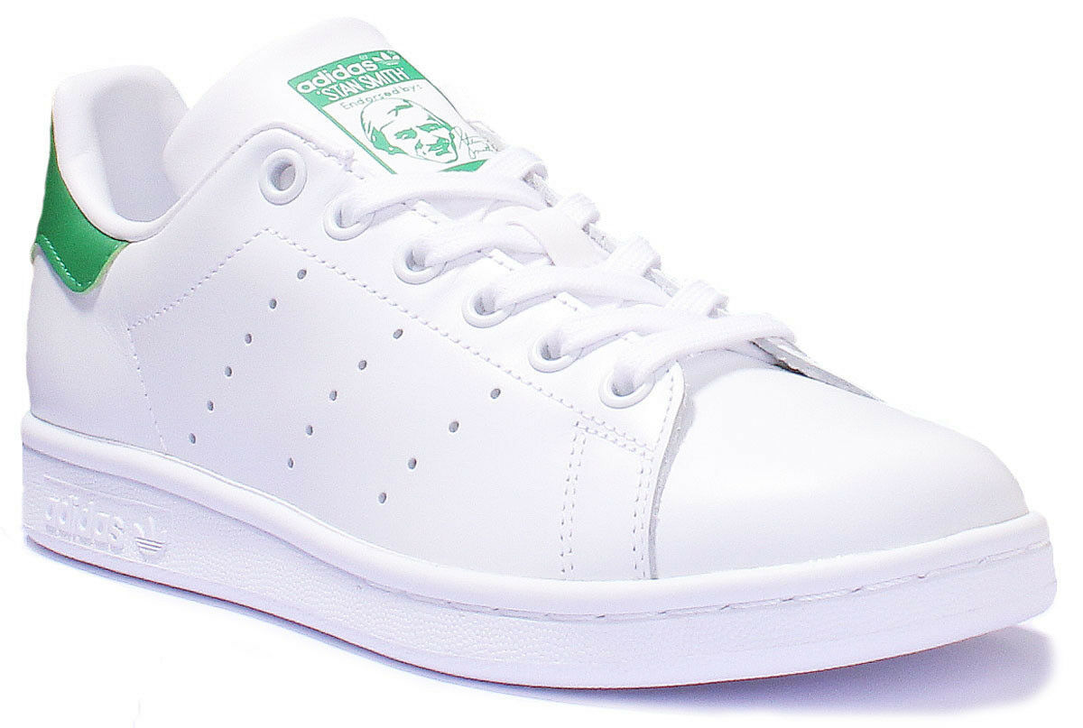 Adidas Stan Stan Stan Smith Women Leather Matt White Green Trainers 3 - 8 fc351a