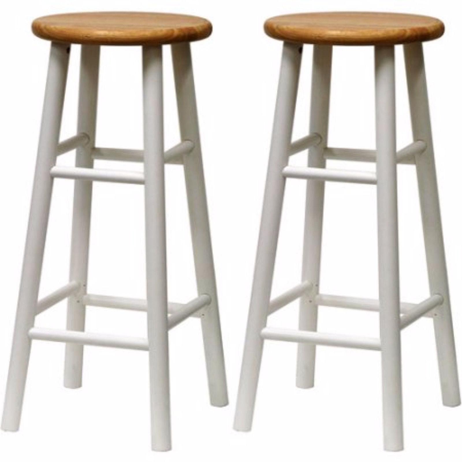 Wooden Bar Stools Beveled Seat 30 Inch Beech Wood Bar Stools Set Of