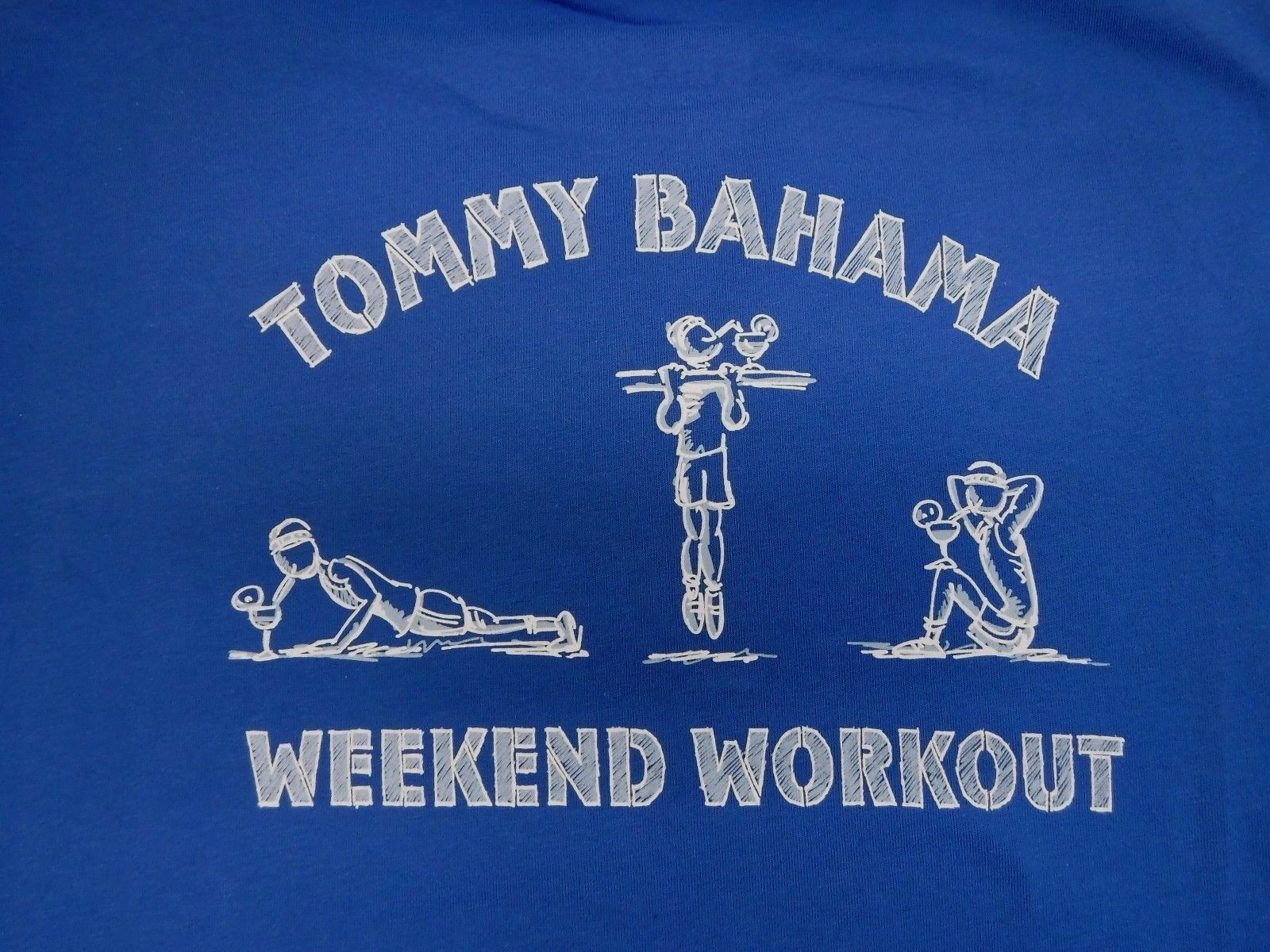 Tommy Bahama Größe Medium  Blau Tshirt Weekend Workout New  Herren Shirt