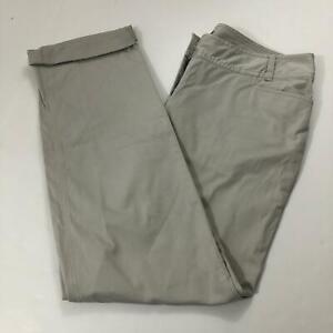 J. Jill Women's Size 8 Stretch Fit Light Khaki Crop Leg Chino Pants