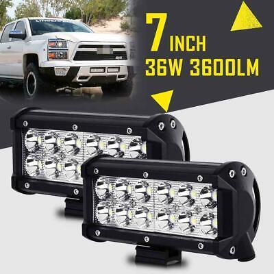"2x 18W 4/"" Cree LED Work Light Bar Flood Offroad 4WD ATV SUV Fog Driving Lamp 36W"