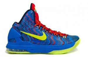 24047649fe0d Nike Air Zoom Kevin Durant KD V 5 Christmas Hyper Photo Blue Atomic ...