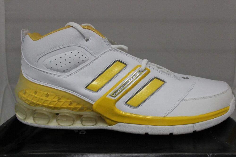 Adidas Hommes Ast NBA Bounce Arti Basketball Blanc/Jaune / Argent 046721 Neuf