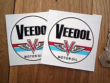 VEEDOL Old Style Racing Adesivi Auto 70 COPPIA OLIO MOTORE Decalcomanie CORSA BICI BOBCAT