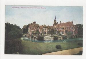 Madresfield-Court-amp-Moat-Malvern-Vintage-Postcard-306a