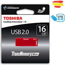 PENDRIVE 16GB TOSHIBA USB 3.0 MEMORIA 2.0 16 GB ORIGINAL PEN DRIVE ROJO