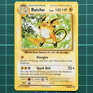 Raichu Non-Holo Theme Deck Exclusive Pokemon Card XY Evolutions 36//108 NM