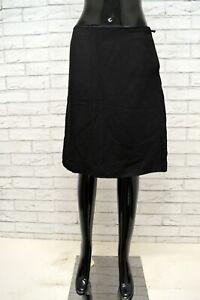 best sneakers 01364 57847 Dettagli su PRADA Gonna Minigonna Vita Alta in SETA Viscosa Taglia 42 Skirt  Woman Black Nero