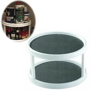 kitchen cabinet lazy susan turntable kitchen cabinet organizer 2 tier turntable pantry non skid 19071