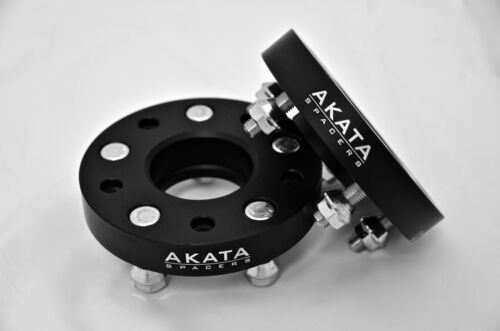 25MM FORD HUB CENTRIC WHEEL SPACERS 5X114.3 CB 70.5 BLACK ANODIZED.