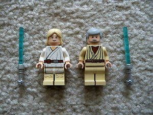 LEGO-Star-Wars-Clone-Wars-Luke-Skywalker-amp-Obi-Wan-Kenobi-w-Lightsabers-New